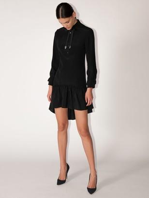Coach Spiral Viscose & Silk Shirt Dress
