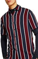 Topman Stripe Viscose Shirt