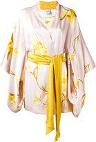Carine Gilson Orchidée print short kimono - women - Silk - S