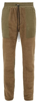 Amiri Panelled Technical-fleece Track Pants - Mens - Green