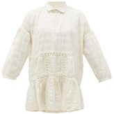 story. Mfg. - Olga Crochet-insert Striped Cotton Dress - Womens - White