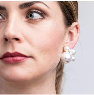Kenneth Jay Lane Pearl Cluster Clip Earring