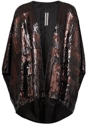 Rick Owens Tecmantle Sequinned Cape - Black Multi