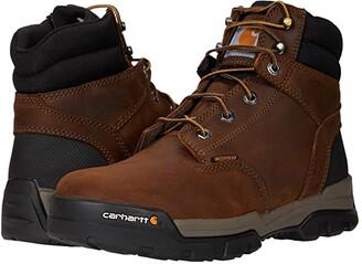 Carhartt Ground Force 6 Waterproof Soft Toe (Bison Brown/Oil Tan) Men's Shoes