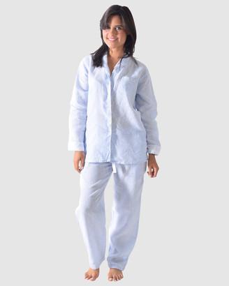 Sant and Abel Bora Bora Linen Shirt + PJ Pant Set