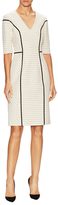Carolina Herrera Cotton V-Neck Zip Sheath Dress