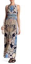 London Times Pleated Neck Sleeveless Maxi Dress (Petite)
