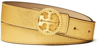 "Tory Burch 1"" Twisted Logo Belt"