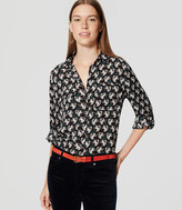 LOFT Squirrel Utility Blouse