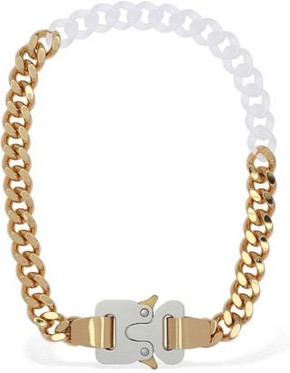 Alyx Two Tone Chain Necklace W/ Fixed Buckle