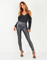 Lipsy High Waist Coated Jean