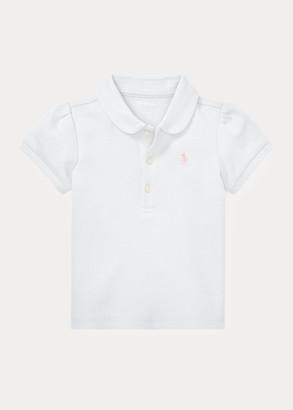 Ralph Lauren Puff-Sleeve Interlock Polo