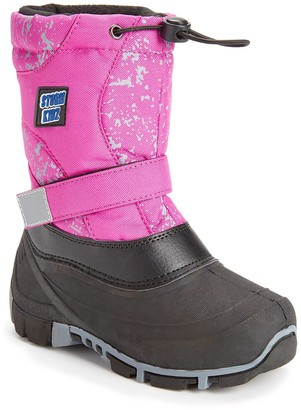 Storm Kidz Girls' Cold Weather Boots Pink - Pink Snowflake Strap Snow Boot - Girls