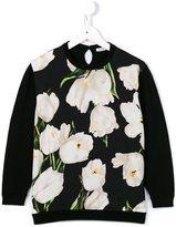 Dolce & Gabbana tulip print panel jumper