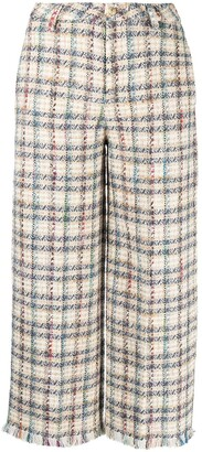 Etro Check Pattern Tweed Trousers