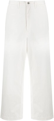 Junya Watanabe Straight Fit Cropped Jeans