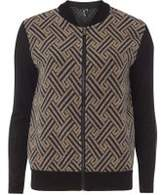 Dorothy Perkins Womens *Izabel London Multi Navy Contrast Bomber Jacket- Blue