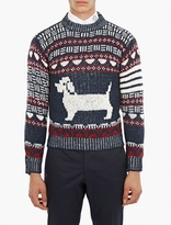Thom Browne Dachshund Mohair-Blend Sweater