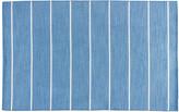 One Kings Lane Stripe Flat-Weave Rug - Denim/White - 2'x3'