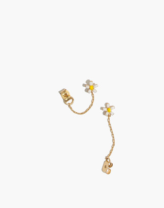 Madewell Seed Bead Daisy Chain Huggie Hoop Earrings