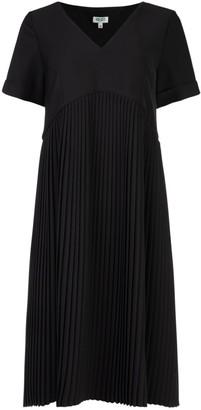 Kenzo Pleated Crepe Dress