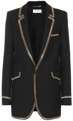Saint Laurent Embellished wool jacket