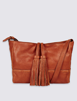 M&S Collection Leather Tassel Across Body Bag
