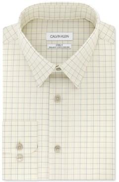 Calvin Klein Men's Classic-Fit Multi-Check Dress Shirt