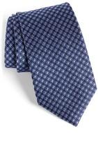 David Donahue Men's Grid Silk Tie