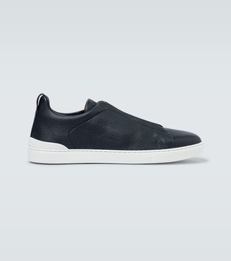Ermenegildo Zegna Leather sneakers with concealed laces