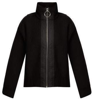 Paco Rabanne Ribbed-knit Wool Jacket - Womens - Black