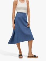 Thumbnail for your product : MANGO Gaia Asymmetric Denim Midi Skirt, Open Blue