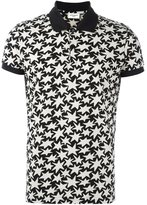 Saint Laurent star print polo shirt