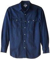 Carhartt Men's Big & Tall Ironwood Denim Work Shirt Snap Front Relaxed Fit