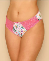 Yours Clothing ELOMI White & Multi Floral Print Maya Briefs