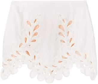 Zimmermann Embroidered Short Skirt
