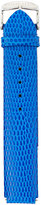 Philip Stein Teslar 18mm Lizard-Embossed Watch Strap, Blue