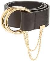 Chloé Gold-hoop leather belt