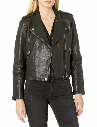 Lucky Brand Women's Pebble Leather Moto Jacket