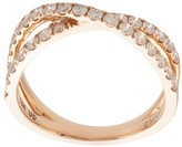 Marchesa 18kt rose gold diamond cross-over double band
