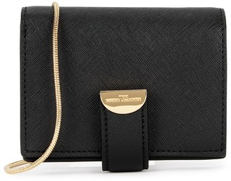 Marc Jacobs Black leather wallet-on-chain