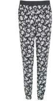 Select Fashion Fashion Womens Grey Mono Floral Soft Trousers - size 6