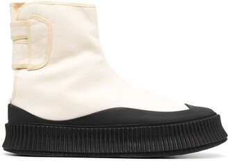 Jil Sander Touch-Strap Ankle Boots