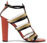 Just Cavalli Stud-Embellished Leather Sandals
