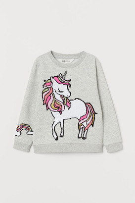 H&M Motif-front sweatshirt