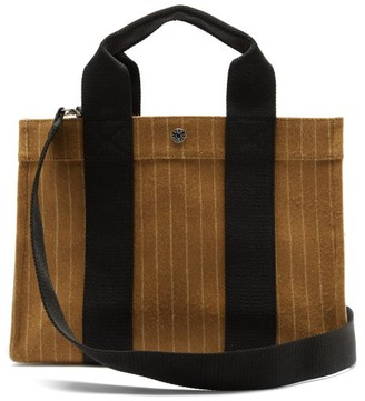 Rue De Verneuil - Traveller Medium Pinstriped-flannel Tote Bag - Brown Multi
