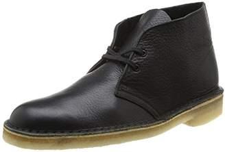 Clarks Desert Boot, Men's Derby, Black (black Tumbled Leather), 45 EU ()