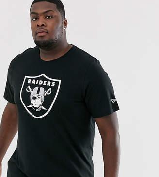 New Era Plus NFL Oakland Raiders t-shirt in black