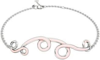 1986 Wiggle Wiggle Bracelet Baby Pink & Rhodium