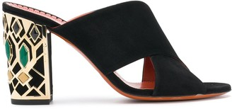 Santoni Embellished Heel Sandals